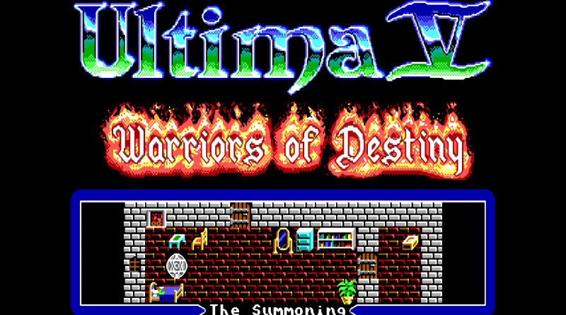 울티마 5 도스 음악추가 패치버전 (Ultima 5 Warrior's of Destiny dos music patched version)